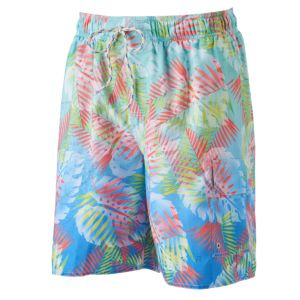 Big & Tall Croft & Barrow® Palm Leaf Microfiber Swim Trunks
